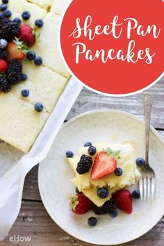 Want a fast, easier way to make a ton of pancakes at once? In a few simple steps you can make seriously fluffy and delicious sheet pan pancakes! With this no-fail sheet pan method, you don't have to worry about burning half the pancakes, forgetting about them on the griddle, or ending up with flat pancakes. Plus it's an easy way to serve a crowd.