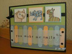 Googly Eyes using Stampin Up Zoofari retired stamp set.