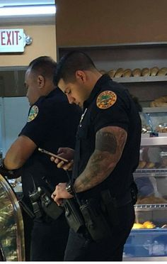 Most of the time, people attempting to become police officers focus on the written and oral exam portion of the tests. Cop Uniform, Men In Uniform, Hunks Men, Hot Hunks, Gorgeous Black Men, Beautiful Men, Sexy Military Men, Police, Hot Guys Tattoos