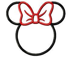 5 tailles Minnie Mouse appliques Design Disney par Embroiderstock