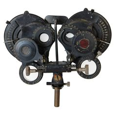 Antique Woolf NY Opthamologist's Eye Testing Device | From a unique collection of antique and modern curiosities at http://www.1stdibs.com/furniture/more-furniture-collectibles/curiosities/