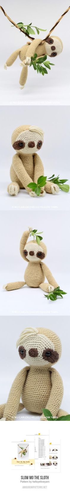 Slow Mo the Sloth amigurumi pattern