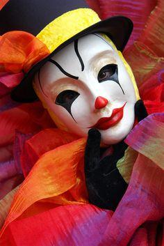 clown with sad eyes