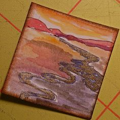 """River inchie [how does one paint this onto a 1""""x1"""" square, I wonder! ;) Mo]"""
