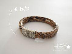 Slangenleren armband | Diamanten #sieraden #armbanden #bracelets #jewelery #mode #leer