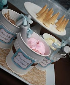 Ice cream buckets-this would be good for parties with food or alcohol instead.
