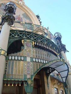 Art Nouveau style Municipal House in Prague