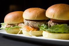 Torn between Japanese or American? Fret no more with our sushi-inspired slider burgers!
