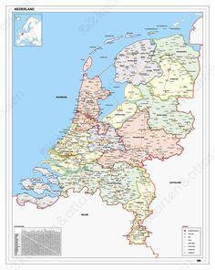 Frisse Landkaart van Nederland 830