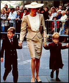 Diana with William and Harry 1990