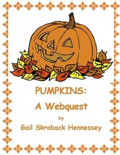 Pretend you are a pumpkin sitting on a front porch on Halloween night. What do you see? What do you hear? How do you feel? Write a story about your evening. Just one sample of extension activities included. This informative 10 question webquest on PUMPKIN would be great for LA classes,a fall activity, or for a substitute lesson! Did someone say pumpkin pie?