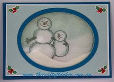 Stampin' Up! Snow Place, Christmas card, Xmas, Snowman, Shaker
