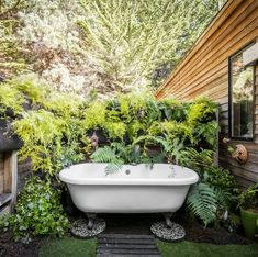 Forget outdoor showers—we'd take one of these tubs anytime! Here, check out some of the most beautiful outdoor tubs that are exactly what your backyard needs