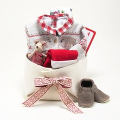 38f33f2d6d1d Baby Girl Gift Basket featuring Petit Bateau at Bonjour Baby Baskets