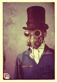 Steampunk | by FalcaoLucas #art #illustration