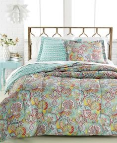 CLOSEOUT! Paisley 2-Pc. Twin/Twin XL Comforter Set $36.97 Brighten up any space with the charm of this Paisley comforter set, featuring the classic print in red, yellow and turquoise hues with a geometric print reverse.