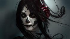 Sugar skull makeup Wallpaper #7680