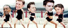 Występować będą tutaj:  - Tom Hiddleston - Sebastian Stan - Chris Eva… #losowo # Losowo # amreading # books # wattpad