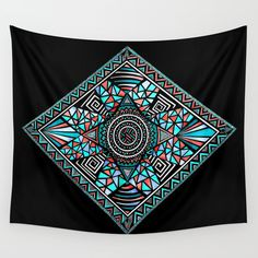 New Paths Wall Tapestry. #abstract #mixed-media #illustration #pattern