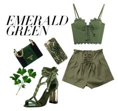 """down to earth"" by donna-gregory2234 ❤ liked on Polyvore featuring Puma, Oscar de la Renta, RIFLE, Prada and emeraldgreen"