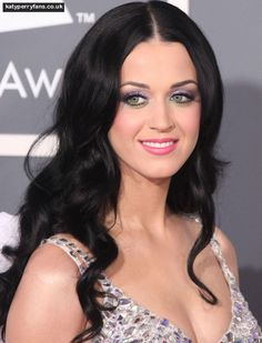 Katy Perry with long black hair