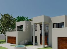 Modern 4 bedroom house plan with pictures features 4 garages. Browse modern double storey house plans pdf and 4 bedroom double storey house plans for sale. House Plans Mansion, Porch House Plans, Basement House Plans, Luxury House Plans, Craftsman House Plans, Modern House Plans, 4 Bedroom House Designs, 4 Bedroom House Plans, Best Modern House Design