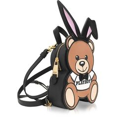Moschino Handbags Teddy Playboy Eco Leather Backpack (€725) ❤ liked on Polyvore featuring bags, backpacks, knapsack bag, moschino bags, nylon rucksack, hardware bag and day pack rucksack