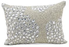 Luminescence 10x14 Pillow, Silver on OneKingsLane.com