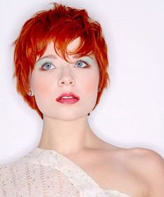 Commonly the women with short hair would like to request the hairstylist with 2 kinds of models, Shaggy and Pixie. These are some Sexy Short Shaggy & Pixie Cut Hairstyles Inspiration for Women. Red Hair Pixie Cut, Short Red Hair, Short Hair Cuts, Short Hair Styles, Pixie Cuts, Red Pixie Haircut, Short Wavy, Short Shaggy Haircuts, Cool Short Hairstyles