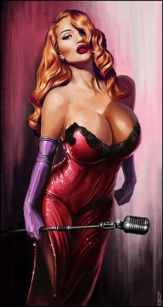 Dick Tracy -Jessica Rabbit #fanart // pinned by @welkerpatrick