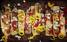 Grilled Banana Pepper And Feta Salad Recipe — Dishmaps
