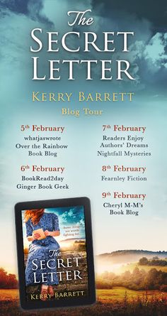 The Secret Letter by Kerry Barrett AD/REVIEW/GIFTED. Dream Book, Over The Rainbow, Authors, The Secret, Mystery, Fiction, Geek Stuff, Ads, Dreams