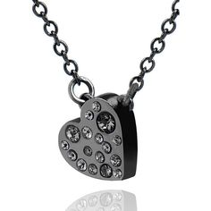 ALEX AND CHLOE All My Heart Pendant Necklace W/Crystal Cluster (€93) ❤ liked on Polyvore featuring jewelry, necklaces, accessories, joias, colares, chain pendants, heart shaped pendant necklace, heart necklace, heart pendant necklace et heart pendant