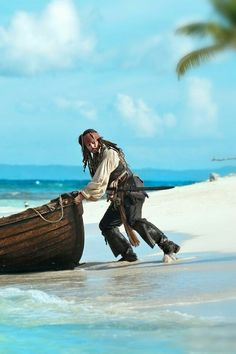 Johnny Depp as Captain Jack Sparrow - Pirates of the Caribbean: On Stranger Tides Pirate Art, Pirate Life, Disney Movies, Disney Pixar, Pixar Movies, Jack Sparrow Quotes, John Depp, On Stranger Tides, Mode Steampunk