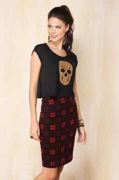 tee shirts and pencil skirts | Pencil skirt and destroyed T-shirt. (Farm). Modern ... | Grunge mood