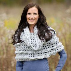 Ruffle Infinity Scarf Crochet Pattern