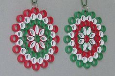 Ornaments in der Kunst der quilling Barbaras Beautys Neli Quilling, Quilling Jewelry, Quilling Paper Craft, Paper Crafts, Xmas Crafts, Christmas Projects, Crafts To Make, Crafts For Kids, Quilling Patterns