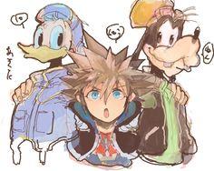 Sora, Donald, & Goofy