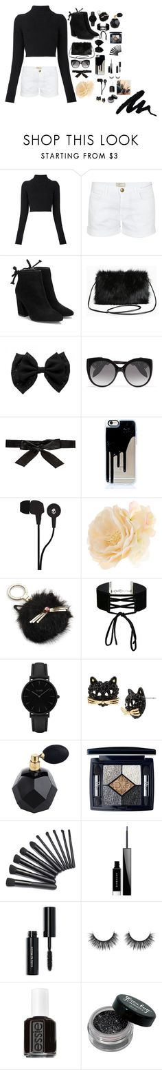 """50 shades of black"" by sweet-lover-01 ❤ liked on Polyvore featuring Balmain, Current/Elliott, Torrid, Alexander McQueen, Alice + Olivia, Skullcandy, Accessorize, Kate Spade, Miss Selfridge and CLUSE"