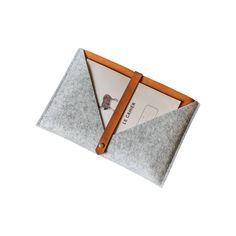 Rough Edge Leather + Felt MacBook Case