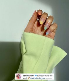 Nagellack Design, Nagellack Trends, Milky Nails, Minimalist Nails, Fire Nails, Rainbow Nails, Best Acrylic Nails, Pastel Nails, Dream Nails