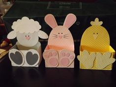 Give Them Something Special With a Personalized Easter Basket Easter Baskets by – Cards and Paper Crafts at Splitcoaststampers - - Easter Projects, Easter Crafts For Kids, Easter Art, Easter Bunny, Happy Easter, Spring Crafts, Holiday Crafts, Ostern Party, Bunny Crafts
