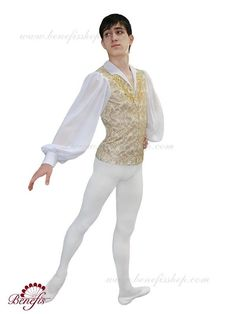 A professional man's tunic with white undershirt, suitable for multiple classical roles. Available in light gold, white, pale blue, and other colors upon demand. Custom made.Please send measurements i