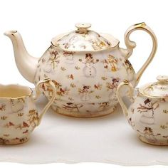 Special Section Sheridan Staffordshire Teapot Beautiful And Charming Pottery & China Staffordshire