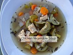 Chicken Vegetable Soup - Paleo, Low Carb