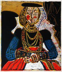 Pablo Picasso, Buste de femme de jeune fille, d'apres Cranach (Portrait of a Young Woman, after Cranach the Younger, II), 1966