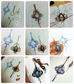Handmade Wire Wrapped, Filigree, Steampunk and Fantasy Jewelry: Lanhua Pendant - Making of Wire Wrapped Pendant, Wire Wrapped Jewelry, Metal Jewelry, Beaded Jewelry, Jewellery, Filigree Jewelry, Amber Jewelry, Silver Jewelry, Wire Crafts