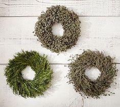 Live Herb Wreaths, Set of 3 #potterybarn