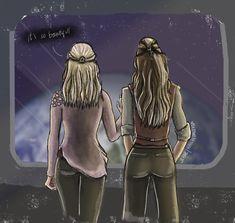 "hailhedaleksa: """" Clexa AU: You're My World where Lexa and Clarke grew up as bestfriends on the Ark "" Keep reading "" Clarke The 100, Lexa The 100, The 100 Clexa, Clarke And Lexa, Lgbt, Otp, Bellarke, We Meet Again, The Hundreds"