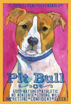 www.ursuladodge.com   Pit Bull Print II « { ursula dodge design studio }